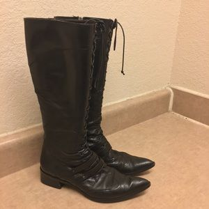 👢Laura belleriva Tall Lace Up Cowboy Boots👢